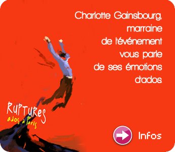 Cultemma : Charlotte Gainsbourg, marraine de Ruptures  Ados Paris