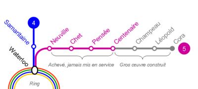 Ligne 5 metro Charleroi