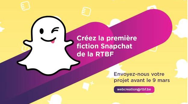 RTBF : Cherche scénario pour une fiction sur SnapChat