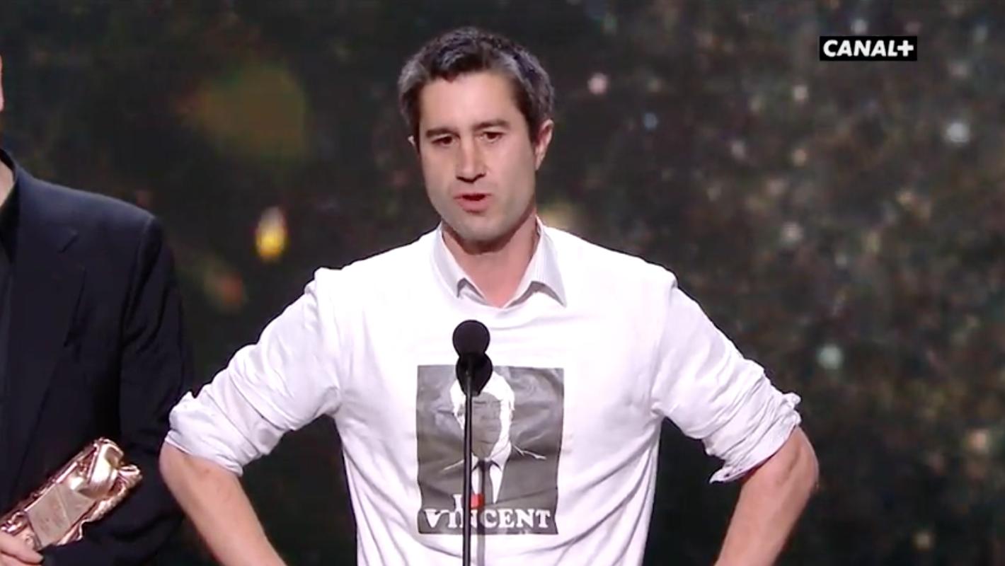 CESAR 2017 : Le t-shirt «I love Bolloré» de François Ruffin