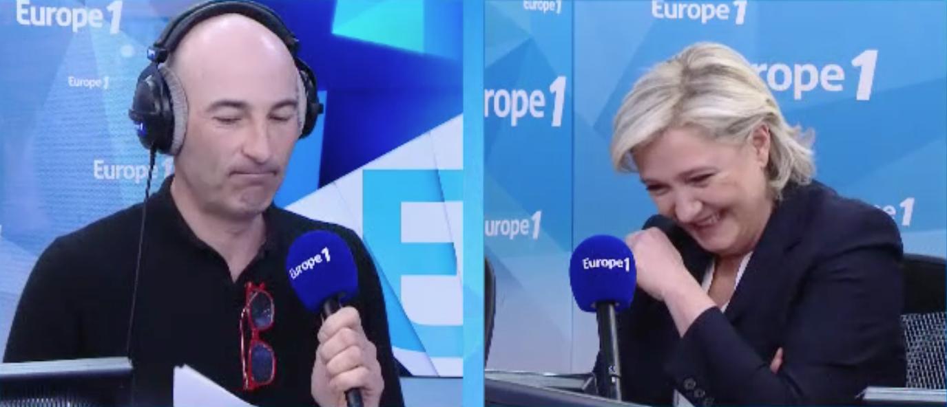 NICOLAS CANTELOUP fait rire aux larmes Marine Le Pen (Europe 1)