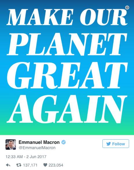 TWEET : Emmanuel Macron le plus populaire