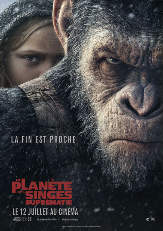 BOX OFFICE : La suprématie de « La planète des singes » surpasse de justesse « Cars 3 ».