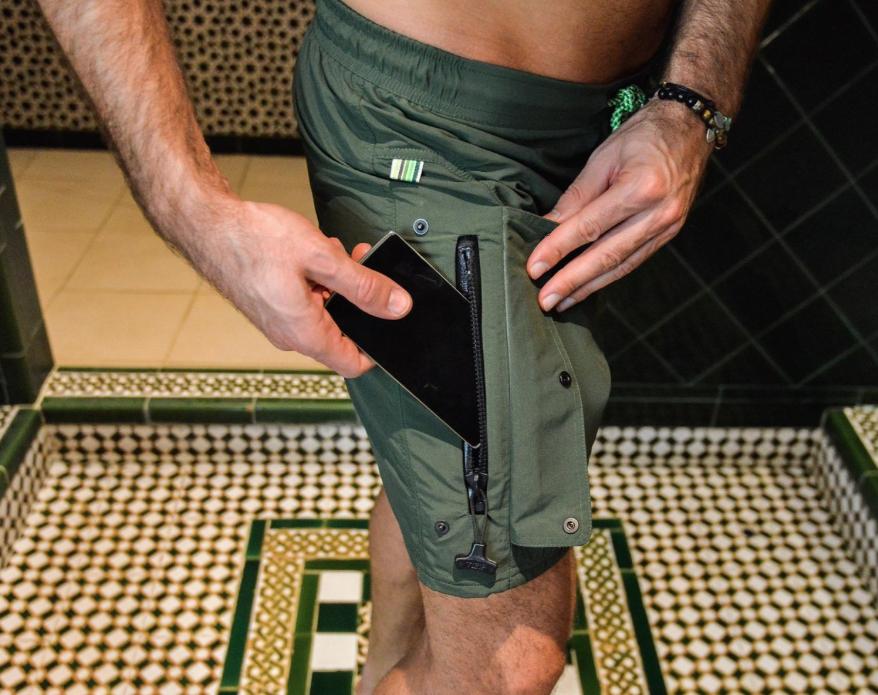 OSSEYAN : La maillot de bain avec une poche étanche